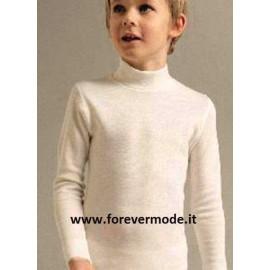 Maglia Bambino Liabel manica lunga a lupetto in caldo misto lana