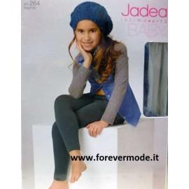 Leggings bambina Jadea lungo in cotone elasticizzato liscio