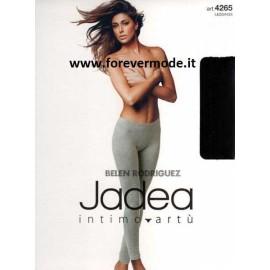 Leggings donna Jadea lungo in cotone elasticizzato liscio