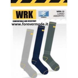 3 paia di calze uomo WRK lunghe in spugna anti infortunistica termiche