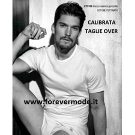 T-shirt uomo Enrico Coveri manica corta con girocollo basso in cotone Extra Large