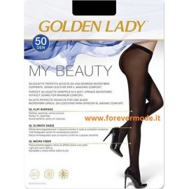 2 Collant donna Golden Lady My Beauty 50 coprente senza cuciture