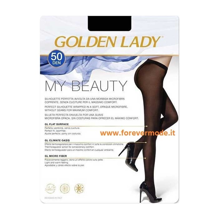 Collant donna Golden Lady My Beauty 50 coprente senza cuciture