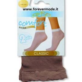 10 Paia di calzini donna Omsa 20den comfort con punte invisibili
