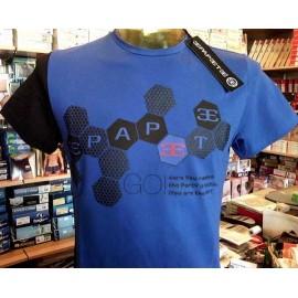 T-shirt uomo Papeete manica corta a girocollo in cotone con banda e stampa logo