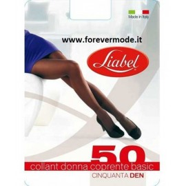 3 Collant donna Liabel 50 den coprente in morbida filanca