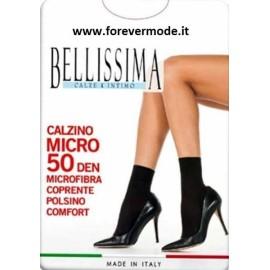 3 Calzini donna Bellissima corti in microfibra con bordo comfort