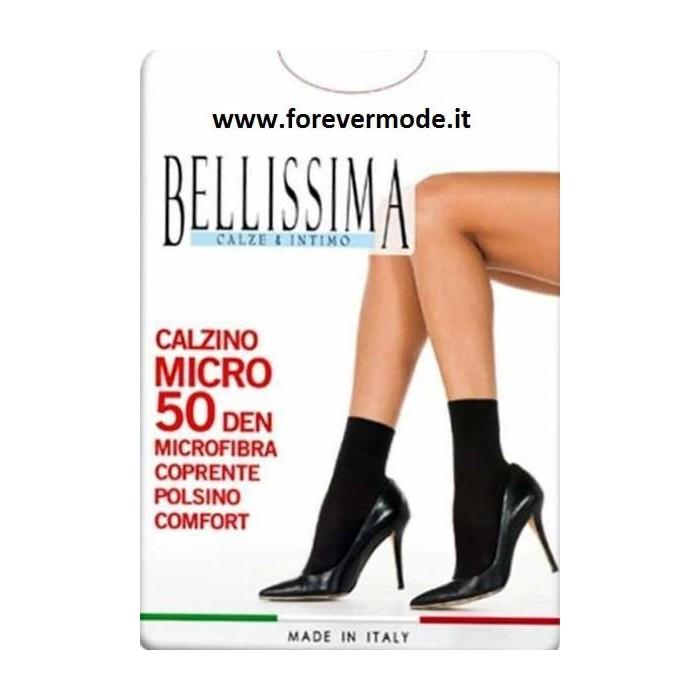 3 Calzini donna Bellissima in microfibra con bordo comfort