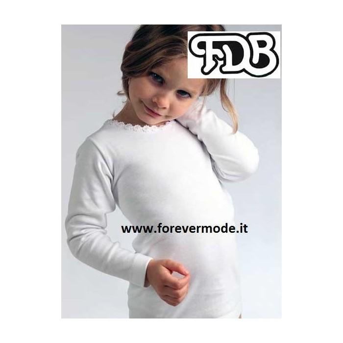 Maglia bambina FDB manica lunga in caldo cotone con stampa