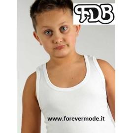 Canottiera bambino FDB a spalla larga in caldo jersey di cotone felpato