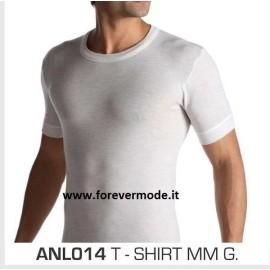 T-Shirt uomo Alpina manica corta a girocollo in caldo misto lana