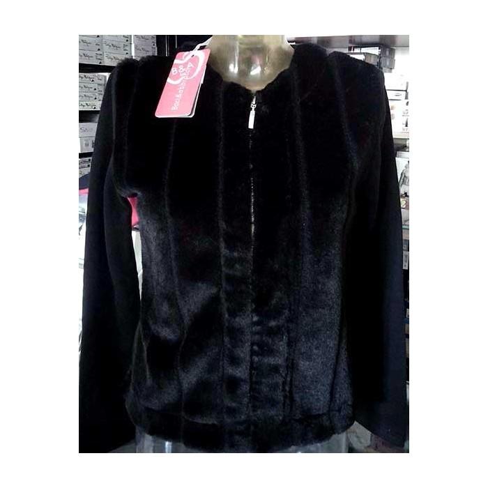 vendita calda online 4c45f 1a599 Felpa donna Baci & Abbracci con pelliccia e maniche in felpa