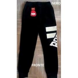 Pantalone tuta uomo Boxing con logo stampato, elastico in vita e tasche
