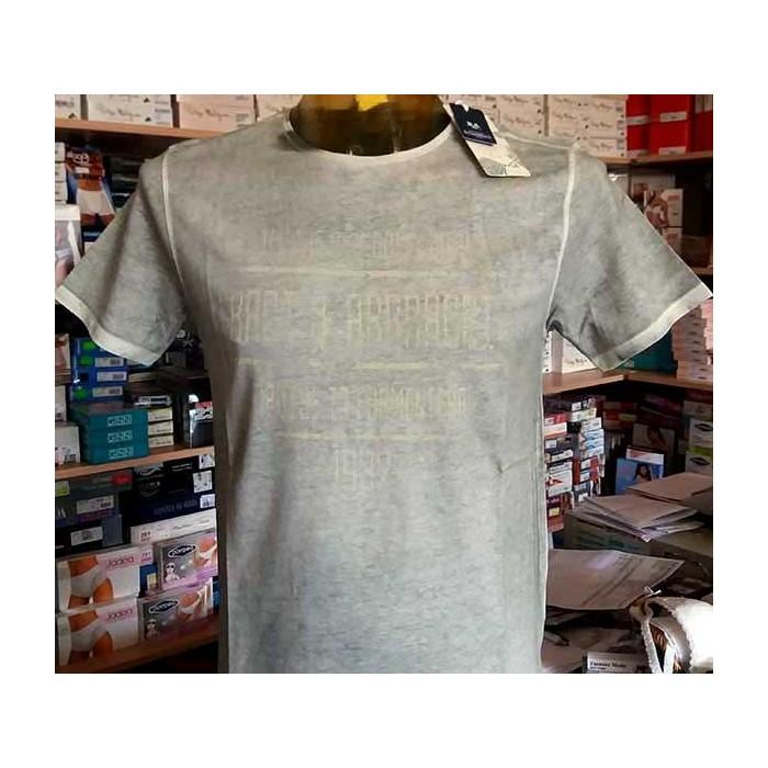 T-shirt uomo Baci & Abbracci manica corta a girocollo in cotone melange con stampa logo
