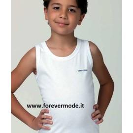 3 Canottiere bambino Enrico Coveri a spalla larga in cotone elasticizzato