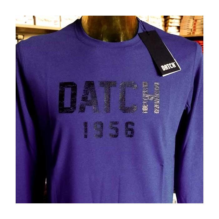 T-shirt uomo Datch manica lunga a girocollo con stampa logo