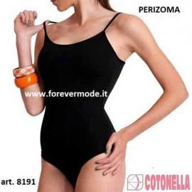 Body donna Cotonella a perizoma in cotone modal con spalla stretta