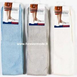 6 Paia Calze uomo Prisco lunghe in cotone spugna comfort
