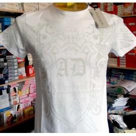 T-shirt uomo Angel Devil manica corta a girocollo con logo stampato frontale