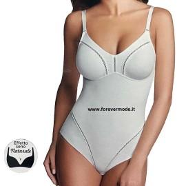 Body donna Lepel in microfibra senza ferretto con coppe e pannello doppiato