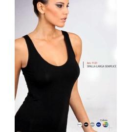 Canottiera donna Egi a spalla larga esternabile in jersey di cotone modal