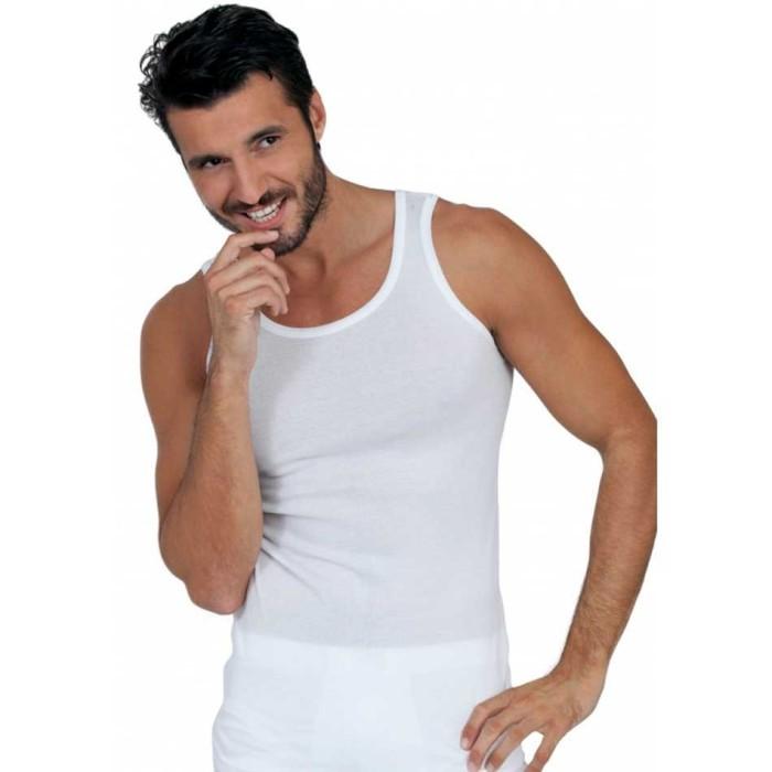 Canottiera uomo Egi a spalla larga in fresco filo di scozia