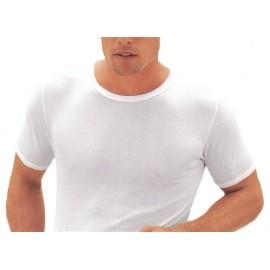 T-Shirt uomo Filam manica corta a girocollo in cotone a costina fine