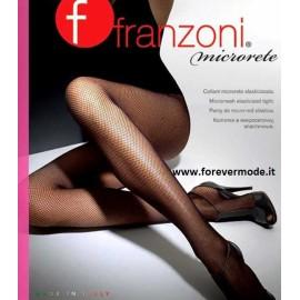 2 Collant donna Franzoni in microrete con tassello in cotone