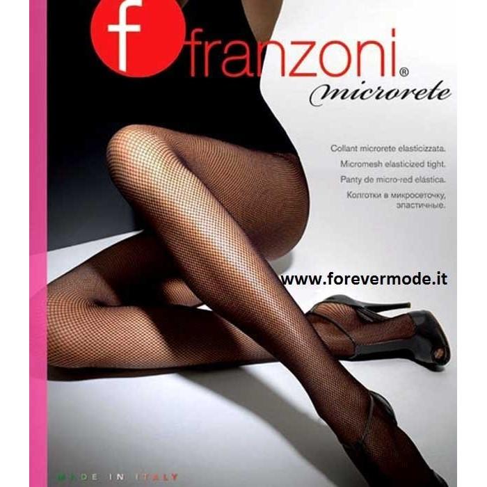 4 Collant donna Franzoni in microrete con tassello in cotone