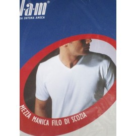 T-Shirt uomo Filam a manica corta in filoscozia con scollo a V