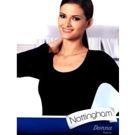 Maglia donna Nottingham manica lunga in caldo cotone con scollo ampio