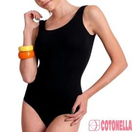 Body donna Cotonella in cotone elasticizzato a spalla larga