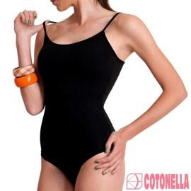 Body donna Cotonella in cotone elasticizzato a spallina stretta