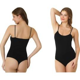 Body donna C&C a spalla stretta in morbida microfibra a perizoma