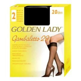 40 paia gambaletto 20 da donna Golden Lady in filanca con bordo comfort