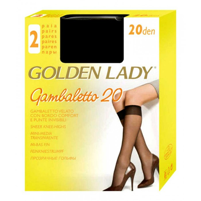 40 paia gambaletto 20 da donna Golden Lady con bordo comfort