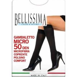 3 Paia di Calze gambaletti donna Bellissima in microfibra antisegno 50den