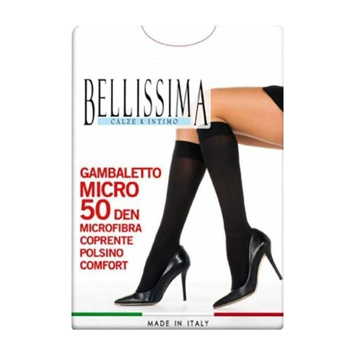 Calza gambaletto donna Bellissima in microfibra antisegno 50den