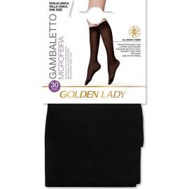3 Paia di Gambaletti donna Golden Lady Microfibra 30 con bordo comfort