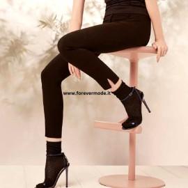 Leggings pantalone donna Matignon vita alta in viscosa elasticizzata