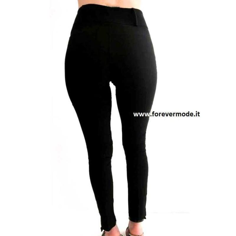 Leggings pantalone donna Matignon vita alta in viscosa elasticizzata art Metro