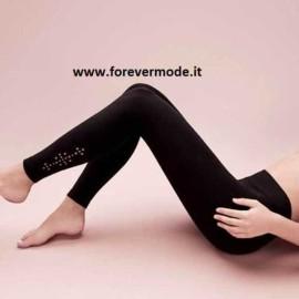 Pantacollant donna Matignon con motivo sulla caviglia a taglio laser
