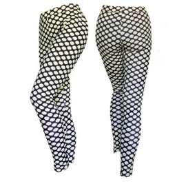 Leggings donna Gladys in morbida microfibra a fantasia con lurex
