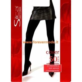 Collant donna Silca Cover 50 coprente in microfibra