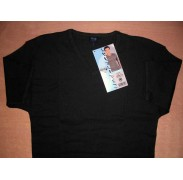 T-shirt uomo Map manica corta girocollo in cotone a costina con scollo V