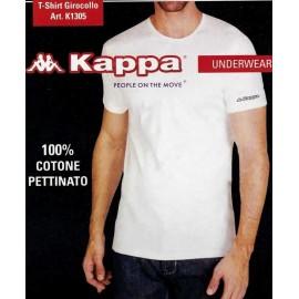 3 T-shirt uomo Kappa manica corta a girocollo in cotone pettinato
